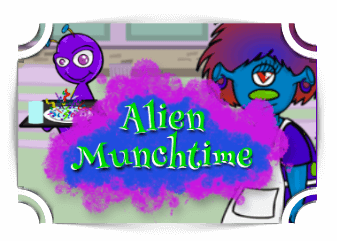 Alien Munchtime addition Games Fun4TheBrain Thumbnail