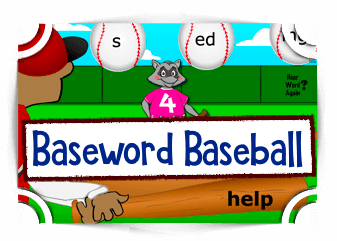 Base Word Baseball reading game reading Games Fun4TheBrain Thumbnail