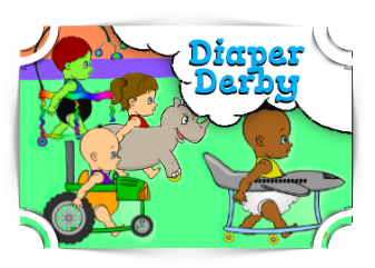 Diaper Derby addition Games Fun4TheBrain Thumbnail